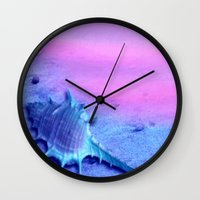shell Wall Clocks featuring Shell by Elena Indolfi
