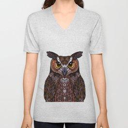 Great Horned Owl 2016 Unisex V-Neck