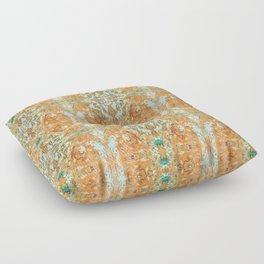 Humming Bird Orange Floor Pillow