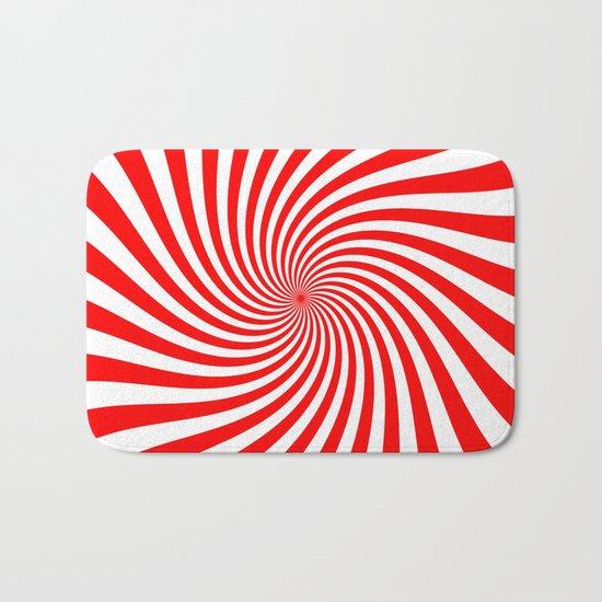 Swirl (Red/White) Bath Mat