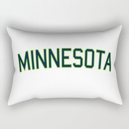 Minnesota Sports College Font Rectangular Pillow
