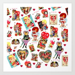 SISSYDUDE UNCUT VALENTINE CARDS Art Print