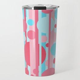 Stripes and circles color mode #1 Travel Mug