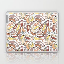 Adorable Otter Swirl Laptop & iPad Skin