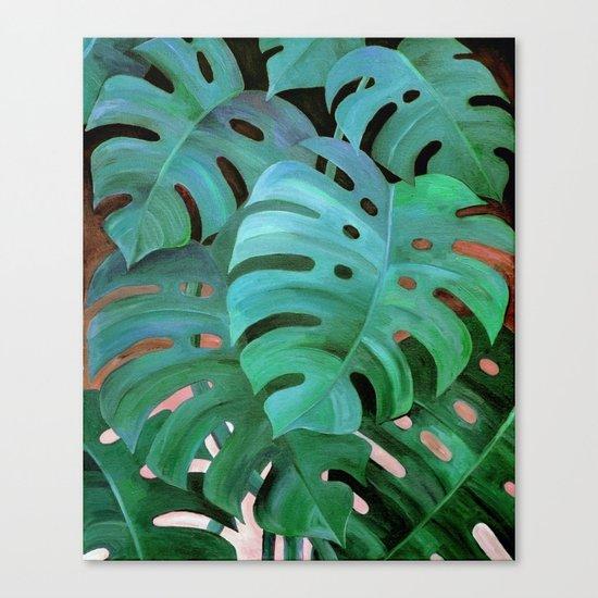 Monstera Love Canvas Print