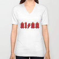 acdc V-neck T-shirts featuring For those about to walk by Quique Ollervides