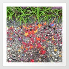 Paint Splatters Art Print