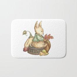 Vintage rabbit Bath Mat