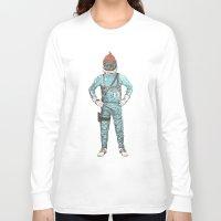 zissou Long Sleeve T-shirts featuring Zissou In Space by Florent Bodart / Speakerine