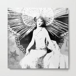 Vintage Moth Winged Angel Metal Print