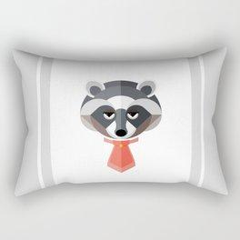 Raccoon Geo-Animal Friend Rectangular Pillow