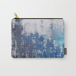 Gray&blue painting.Fine art. Contemporary art. Carry-All Pouch