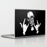 devil Laptop & iPad Skins featuring Devil Horns by Matthew Dunn