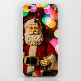 Santa Bokeh 2 iPhone Skin