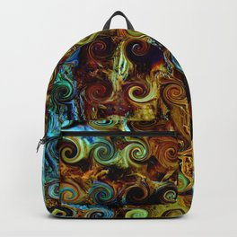 Colorful Wood Spirals Background #Abstract #Nature Backpack