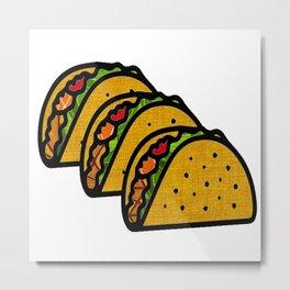 Taco Trio Metal Print