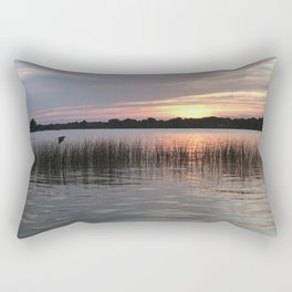 Grass Island Sunset Rectangular Pillow