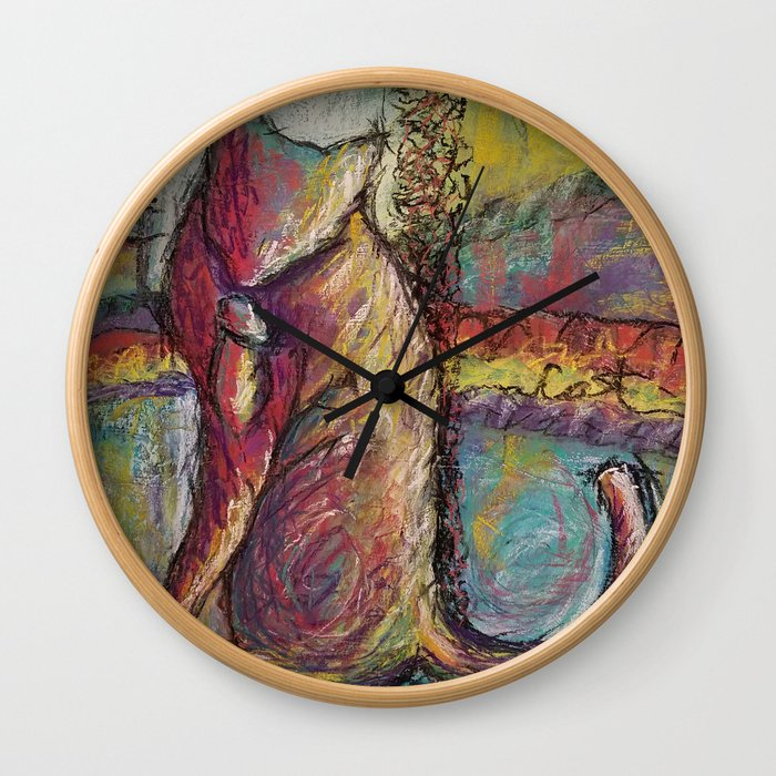 Soulful Cat Wall Clock