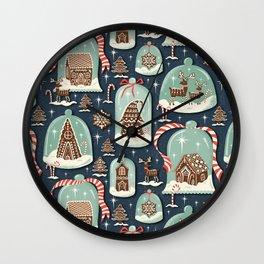 Gingerbread Village Wall Clock