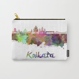 Kolkata skyline in watercolor Carry-All Pouch