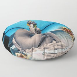 Enceladus Spring Floor Pillow