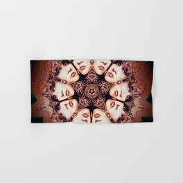 Witchy Woman // Stevie Nicks Vintage Witch Goddess Magical Star Pentacle Pentagram Mandala Hand & Bath Towel