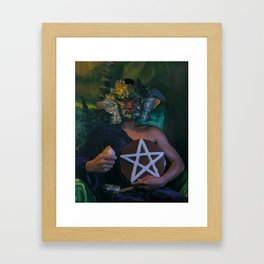 The Man of Pentacles Framed Art Print