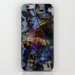Many Faces in Time iPhone Skin