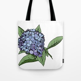 Hydrangea Blue Tote Bag