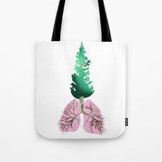 organic lungs Tote Bag