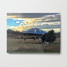 Morning Glory - Mt. Sopris - Glenwood Springs Metal Print