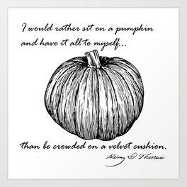 Thoreau's Pumpkin Art Print