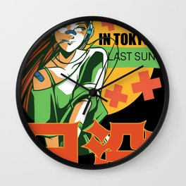 Sunset In Tokyo Wall Clock
