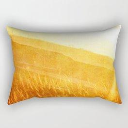 Through gold-woven dreams Rectangular Pillow