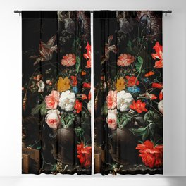 The Overturned Bouquet by Abraham Mignon (1660-1679) Blackout Curtain