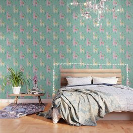 Llama Pattern Wallpaper