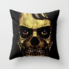 Angry Skull Monster Poster Throw Pillow