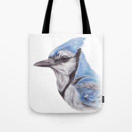 Blue Jay - CYANOCITTA CISTATA   Watercolour   Painting   Animal   Nature   Art Tote Bag