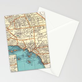 So Cal Surf Map Stationery Cards