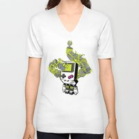 pixel V-neck T-shirts featuring Pixel Dreams by MEKAZOO