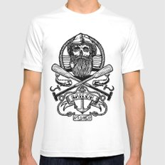 SAILOR SKULL MEDIUM White Mens Fitted Tee