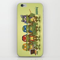 tmnt iPhone & iPod Skins featuring TMNT by Micka Design