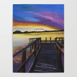 Shelley Bridge Sunset Poster