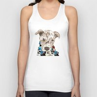 pit bull Tank Tops featuring a pit bull day by bri.buckley