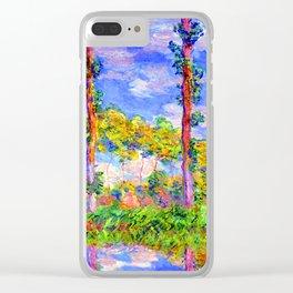 Claude Monet Poplars in the Sun Clear iPhone Case