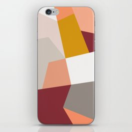 Abstract Geometric 27 Red iPhone Skin