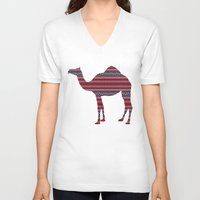 camel V-neck T-shirts featuring Camel by Ain Clothing