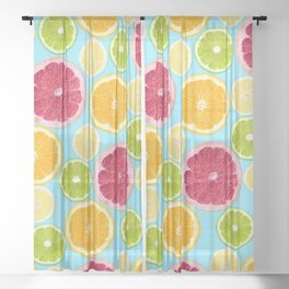 Citrus Obsession Sheer Curtain