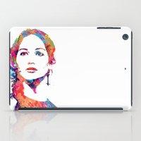 katniss iPad Cases featuring Katniss by lauramaahs