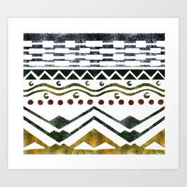 Ethnic Stencil Art Print